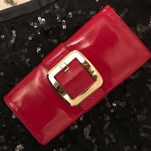 Michael Kors Pantene leather clutch
